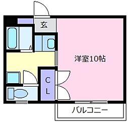 大阪府松原市天美東5丁目の賃貸マンションの間取り