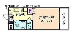 大阪府豊中市螢池中町3丁目の賃貸マンションの間取り
