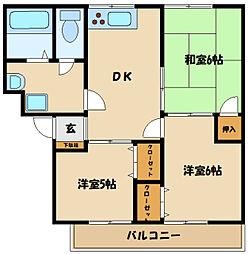 ボナール町田A 3階3DKの間取り