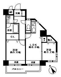エステート・モア博多APEX[9階]の間取り