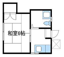 神奈川県相模原市南区南台1丁目の賃貸アパートの間取り