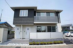 栃木県下野市石橋の賃貸アパートの外観