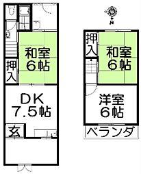 [一戸建] 大阪府枚方市長尾東町3丁目 の賃貸【/】の間取り