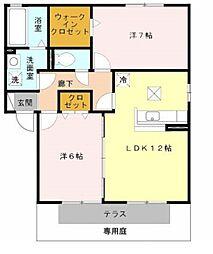 リッツハウス II番館[1階]の間取り