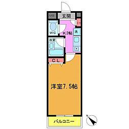 北栄エクセルマンション[303号室]の間取り