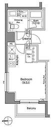 東京メトロ日比谷線 仲御徒町駅 徒歩3分の賃貸マンション 3階ワンルームの間取り
