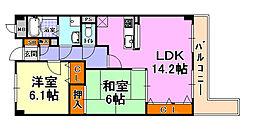 JR東海道・山陽本線 芦屋駅 徒歩14分の賃貸マンション 1階2LDKの間取り