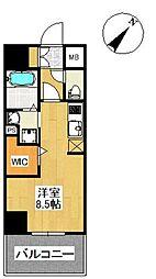 福岡県福岡市中央区那の川2の賃貸マンションの間取り