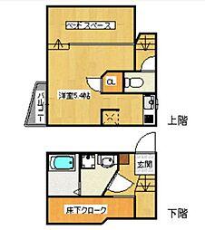 コンフォートベネフィスジオ箱崎[202-0号室]の間取り