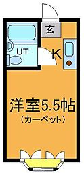 千葉県市川市国府台5丁目の賃貸アパートの間取り