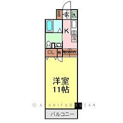 レジディア上野御徒町[11階]の間取り