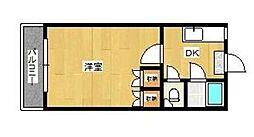第二城南コーポ[201号室]の間取り