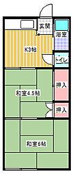 コードイカリ2[205号室]の間取り