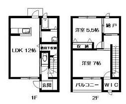 [テラスハウス] 福岡県福岡市東区下原3丁目 の賃貸【/】の間取り