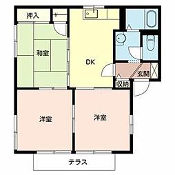 フォーレス新金岡 1階3DKの間取り