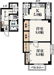 Maison de I 2階1LDKの間取り