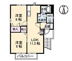 ロンクー II[2階]の間取り