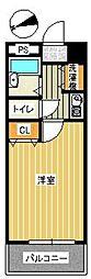 アスペクタ博多駅中央[504号室]の間取り
