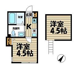 ベイルーム鎌倉山崎[1階]の間取り