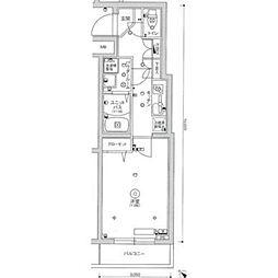 スカイコートパレス駒沢大学2[4階]の間取り