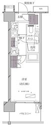 JR山手線 田町駅 徒歩11分の賃貸マンション 11階1Kの間取り