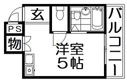 ペントハウス21[4階]の間取り