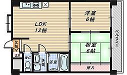 コンフォート北花田[3階]の間取り