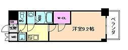 プレサンス江戸堀[15階]の間取り