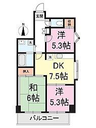 ファミール川崎[2階]の間取り
