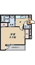 サンシーブル 三国ヶ丘[2階]の間取り