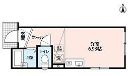 埼玉県川口市芝新町の賃貸アパートの間取り