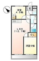 埼玉県川口市安行出羽2丁目の賃貸アパートの間取り