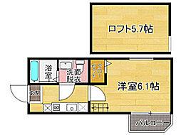 MiA茶山[1階]の間取り