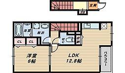 大阪府堺市西区浜寺元町2丁の賃貸アパートの間取り