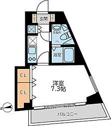 都営浅草線 馬込駅 徒歩5分の賃貸マンション 6階1Kの間取り