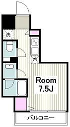 JR京浜東北・根岸線 川崎駅 徒歩4分の賃貸マンション 3階ワンルームの間取り