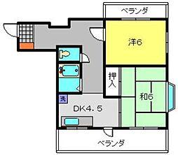 神奈川県横浜市瀬谷区阿久和西1丁目の賃貸マンションの間取り