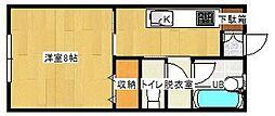 福岡県福岡市早良区次郎丸5丁目の賃貸アパートの間取り