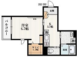 JR総武線 千駄ヶ谷駅 徒歩9分の賃貸マンション 1階1Kの間取り