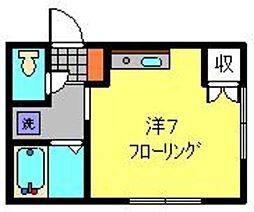 神奈川県横浜市港南区上大岡西3の賃貸アパートの間取り