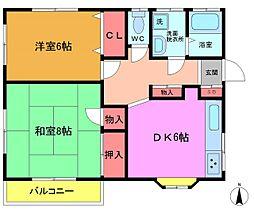 植村アパート[2階]の間取り