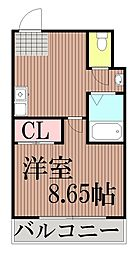 東京都大田区仲六郷1丁目の賃貸マンションの間取り