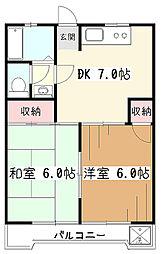 サンライズ中央[2階]の間取り