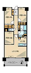 グレーシア東中野 5階3LDKの間取り