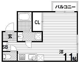 新長田BENEFIC(ベネフィック)[3階]の間取り