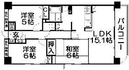 ランフォルセ香里園II番館[6階]の間取り