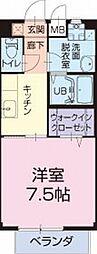 愛知県安城市浜屋町の賃貸アパートの間取り
