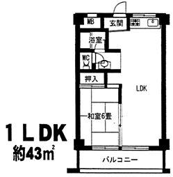サンハイツ大和(東大阪)[2階]の間取り