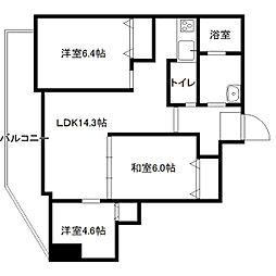 セザール円山北[902号室]の間取り