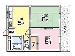 良野マンション〜[2階]の間取り